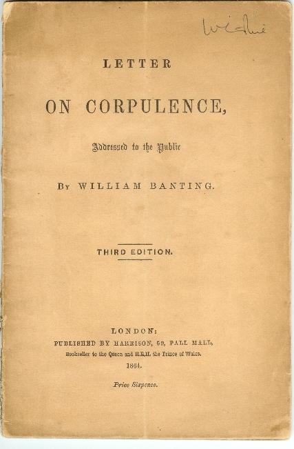 Banting's Letter on Corpulence